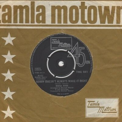 Diana Ross Sorry Doesnt Always Make It Right Tamla Motown TMG 941  Soul Northern