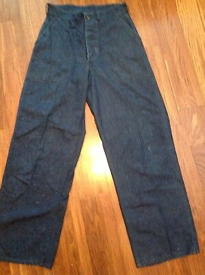 US Navy Denim Dungarees Jeans Pants WWII Military  button fly 30 x 31 NXsx