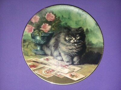 """""""The Purr-fect Pen Pal"""" 8"""" Collector Plate by Ada Tucker 1993"""
