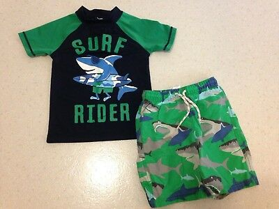 Boys 3/4 Mini Boden Swim Trunks Gymboree 4 Swim Shirt