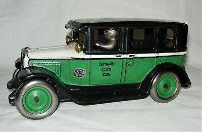 "Extremely Rare 1927 Arcade Gmc ""green Cab Co."" Cast Iron Bank"