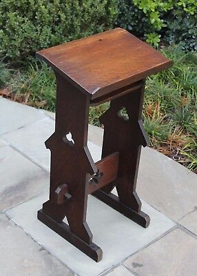 Antique French Oak GOTHIC Bible Book Stand Christian Cross Prayer Stand PETITE