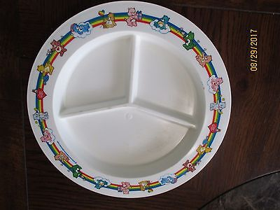 Vintage Sectioned Care Bear Plate