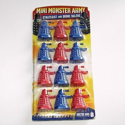 Doctor Who 35mm Mini Monster Army Strategist & Drone Dalek 12 Figure Pack Sealed