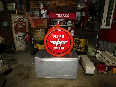 Antique 1927  Rocker Oil Can Flying A Gasoline Petroliana