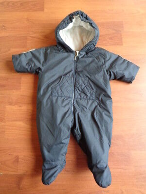 89420c5a3 BURBERRY BABY BOYS Navy Blue Snowsuit Pram Suit All In One 1 Month ...