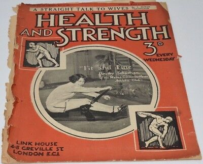 1 x Health and Strength BodyBuilding Magazine - May 17th 1930