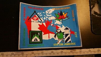 CJ17 2017 Canadian Scout Jamboree Map Canada 150 Badge Patch