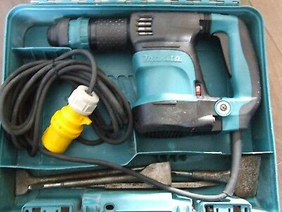 Makita HK1820 Power Scraper/chisel SDS plus 5 speed 110 Volt WITH BITS & CASE