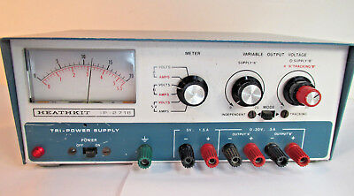 Heathkit Tri-Power Supply Model  IP-2718 Tested