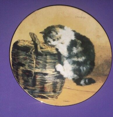 """""""A Curious Kitty"""" 8"""" Collector Plate by Charles Van Den Eycken 1992"""