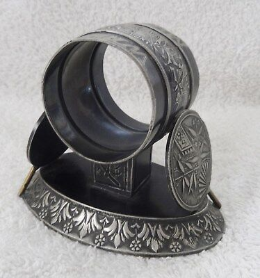 Antique Meriden & Co. Silver Plated Victorian 1883 Napking Ring