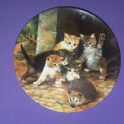 """""""Fround oder Feind"""" 8"""" Collector Plate by Van  Wolfgang Kaiser  1991"""