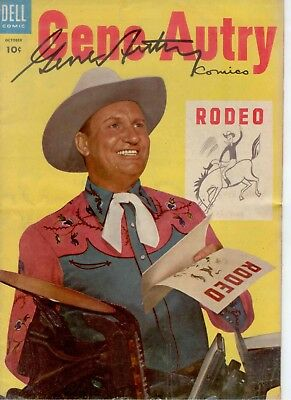 GENE AUTRY Signed Comic Book 1954 Dell #92 TV Western