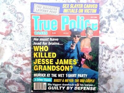 True Police Cases. American Magazine.October 1992. Good Condition. 67 Pages.