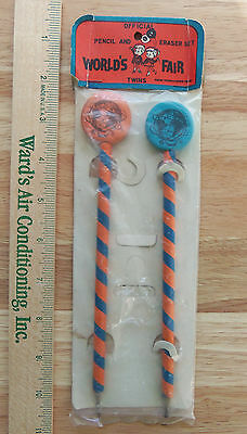1964-1965 New York World's Fair Official Pencil And Eraser Set In Package