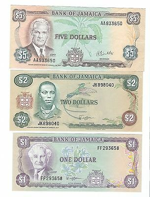Jamaica - Five (5) & Two (2) & One (1) Shillings 1976  !!XF-UNC!!