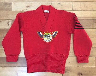 1930s Vintage Aviation Sweater Super Thick Knit Spirit Of St. Louis Airplane