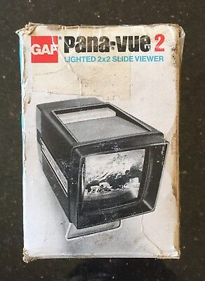Vintage GAF Pana-Vue 2 Lighted 2 x 2 Slide Viewer Made in USA