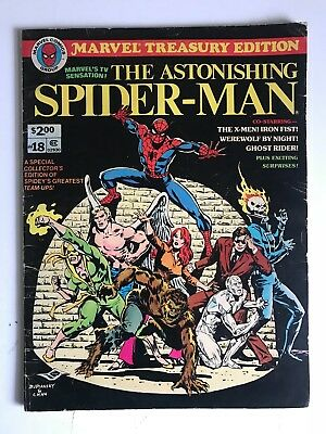 Bronze Age Marvel Treasury Edition SPIDER-MAN Vol. 1 #18 Collector's Issue X-Men