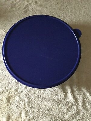 Tupperware Large Round Cake Pie Taker Container Blue Seal