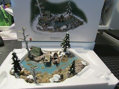 Rare Dept 56 Mountain Creek Curved Section 53005 Tent Boat Etc Retired