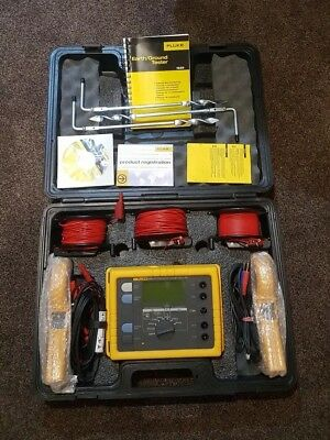 Fluke 1625 KIT Earth Ground Test Kit Geo Tester. Relisted due to time waster!