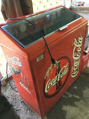 Coca-Cola Electric Refrigerator Floor Cooler, Coke Collectible! Holds up to 100!