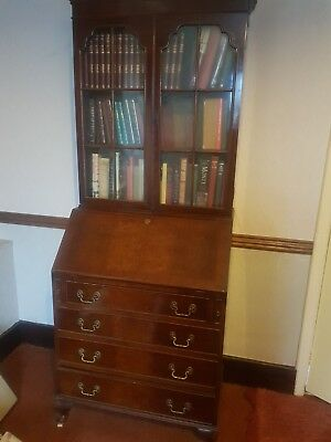 Bureau Bookcase, Vintage Antique Desk Bureau, Old Writing Furniture