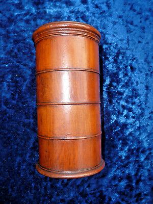 Antique Victorian  Spice Tower , 4 Sections Turned Wood Treen - Great Condition