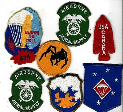 WW2/ K War Lot of 7 patches, AIRBORNE,   These are all Reproductions. 1st SSF, +