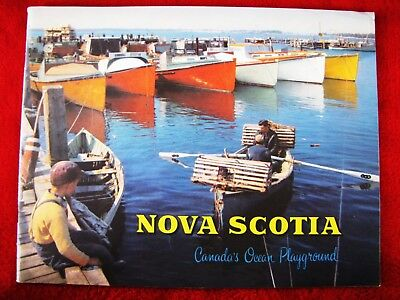 Vintage Nova Scotia Canada's Ocean Playground Souvenir Travel Booklet  Colorful