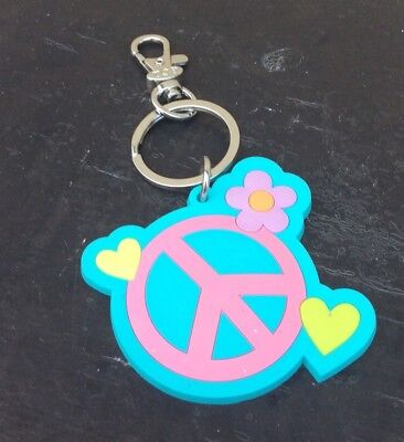 Children's Place Peace Keychain Or Lanyard Charm New
