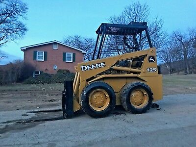 John Deere 125 Skid Steer Diesel Fork Lift Attachment Cat Bob Cat Tractor Hydro