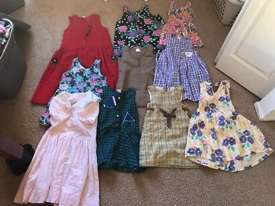 Lot Of Vintage Girls Dresses Varied Sizes
