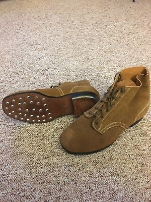 Wwii German  Leather Low Boots- Size 13