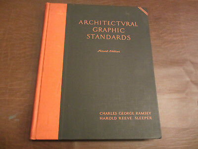 VINTAGE 1936 ARCHITECTURAL GRAPHIC STANDARDS BOOK 2nd EDITION RAMSEY & SLEEPER