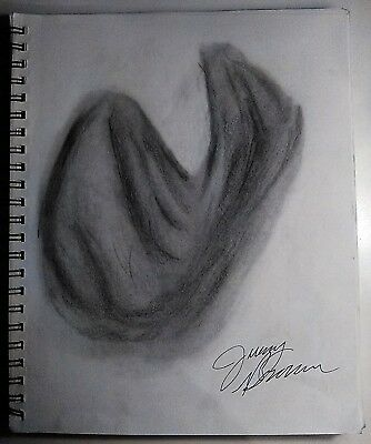 Charcoal Drawing of Drapery (9 x 12)