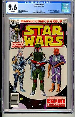 STAR WARS #42  CGC 9.6 WP  Marvel Comics 12/80  Boba Fett cover   Darth Vader