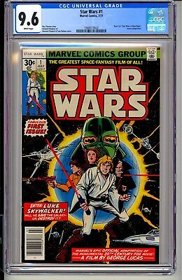 STAR WARS #1  CGC 9.6 WP  Marvel Comics 7/77 Darth Vader Episode VIII Last Jedi