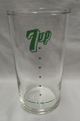 VINTAGE 7up ADVERTISING SODA FOUNTAIN GLASS WITH SYRUP LINE