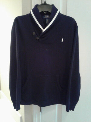 Boy's Ralph Lauren Black pullover sweater size 14-16 *great pre-owned condition*