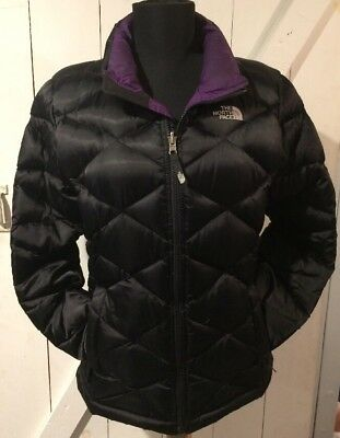 ... cheapest the north face black and purple puffer jacket 550 girls 18 xl  euc 71509 238c7 d42657fb4