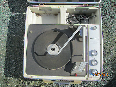 garrard record player Princess automatic record changer.