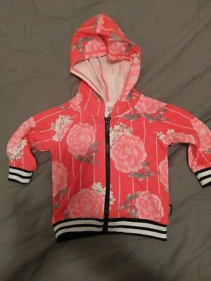 Bonds Baby carnation print hoodie jacket size 00 new without tags