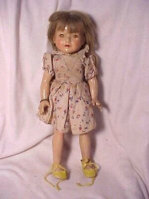 Vintage 14 Inch Effanbee Composition Anne Shirley Doll Needs Work