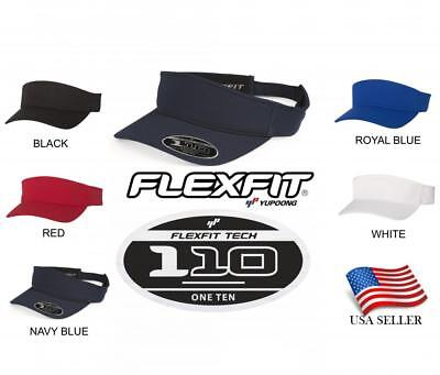Flexfit Visor Sun Plain Hat Sports Cap Golf Tennis Beach New Adjustable New 110