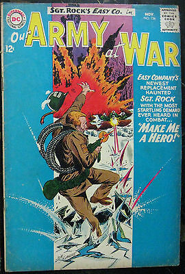 OUR ARMY AT WAR# 136 Nov 1963 Sgt Rock Joe Kubert Cov/Art Silver Age: 7.0 FN-VF