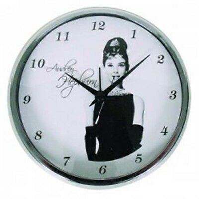 Clock French Country Vintage Alarm MANTLE Sitting Audrey Hepburn 11CM NEW