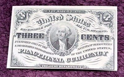 1864 3¢ Fractional Currency FR 1226 3RD ISSUE CHOICE GEM CRISP UNCIRCULATED